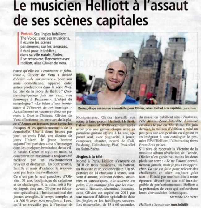 Article dans Centre Presse (20/07/2013)